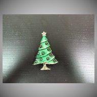 Vintage BJ  Christmas tree pin