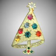 Beautiful off center Christmas tree pin