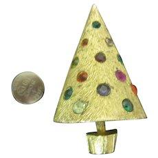 Coro Craft Light up Christmas tree pin Book piece