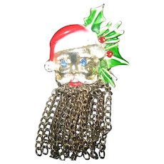 Santa Pin with Chain link Beard Unusual piece