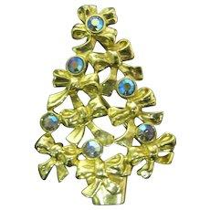 AVON Christmas tree pin Bows