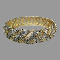 Kramer gold tone and rhinestone bangle bracelet