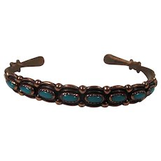 Copper and Turquoise bracelet with WM mark