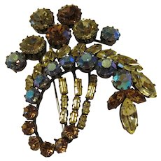 Spectacular Large sparkling rhinestone abstract pin