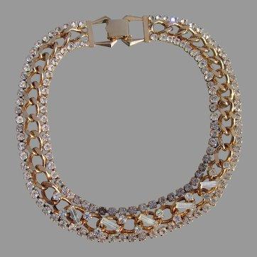 Stunning Rhinestone choker necklace with raised stones