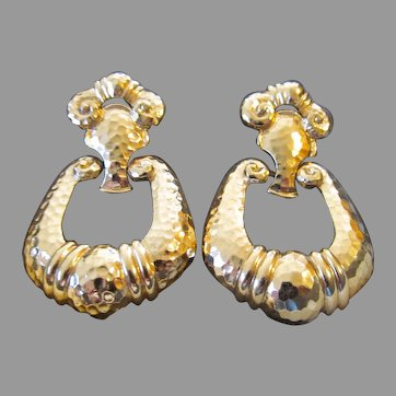 Jose Maria Barrera Corinthian collection earrings large and bold
