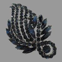 Very well made Large Montana blue leaf brooch