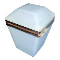 Opaline glass box Seafoam Blue