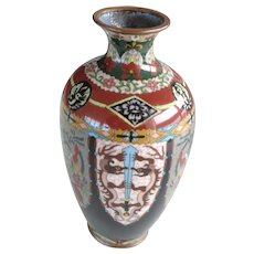 Antique Japanese Cloisonne Vase Meiji Period
