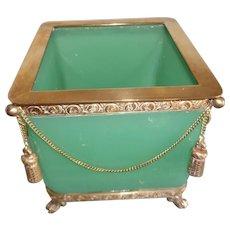 Opaline glass box cashpot  box