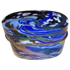 JACK INK  mid century Art Glass Box