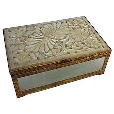 Antique Peking Glass Box. Bronze mounts