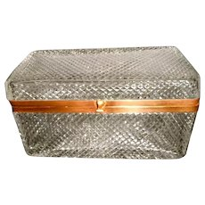 Large Cut crystal  box. all over diamond cuts