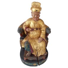 Antique Chinese carved figure of nobleman