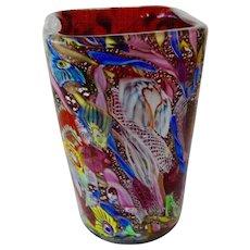 Murano Glass Tutti Frutti Vase By Dino Martens