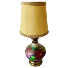 Camille Faure enamel on copper Rare form  Lamp