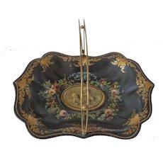 Antique Tole Handpainted basket