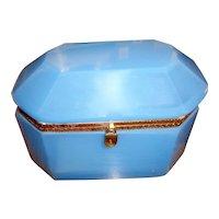 French  Opaline glass box