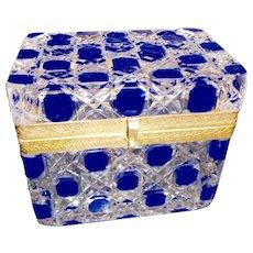 Antique cut to Clear cut glass, crystal box