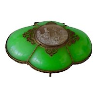 Antique French Opaline glass box