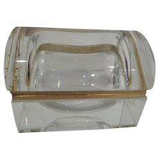Vintage Murano glass box rectangular with domed top