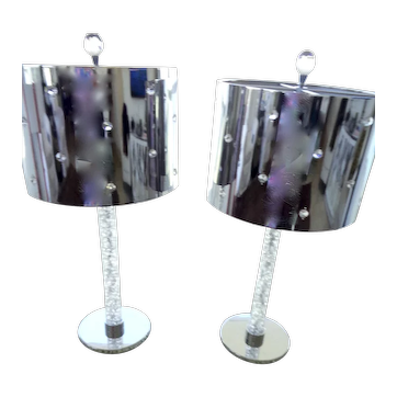 Custom made pr lamps  w/ Chrome Metal shades