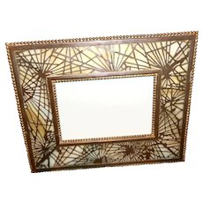 Tiffany Studios Pine Needle Picture Frame, Calendar Signed