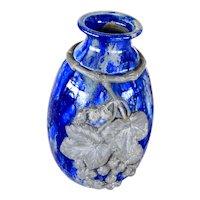 Art Deco Pewter mounted Roger Guerin Ceramic Vase