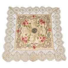 Antique Souvenir de France Ribbon Work