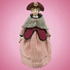 Vintage Porcelain Doll, 5-1/2 inch