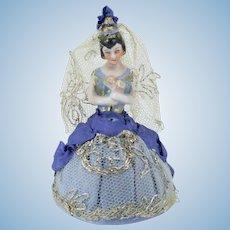 Tiny German Half Doll Pincushion Spanish Outfit
