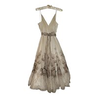 Vintage Metallic Embroidered Dress