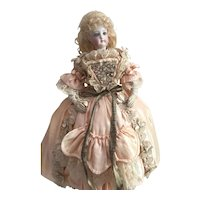 Antique Silk Two Piece Dress for a 14 inch Antique French or German Fashion Doll