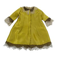 Antique Yellow Silk Jacket for an Antique French or German Doll