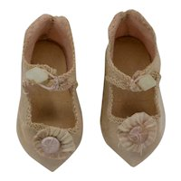 Antique French Silk Doll Shoes (size 3)