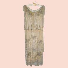 Antique Beaded Flapper Dress