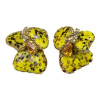 Hobe Vintage Mayorka Petal Clip Earrings