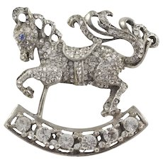 Reja unsigned Rocking Horse Brooch/Pin