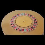 Vintage Majestic Roulette Wheel Compact Novelty Book Item for collector figural