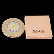Vintage Majestic Roulette Wheel Compact w/ Org. Box Mint Condition * Novelty Book Item