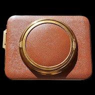 Rare Vintage Lin-Bren Novelty Camera Shaped Combo Compact / Cigarette case * BOOK PIECE