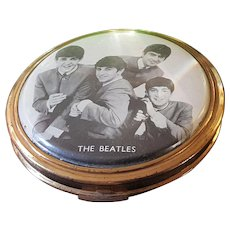Ultra Rare The Beatles Compact w/ powder puff