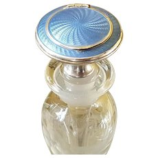 Ultra Rare  Combo Compact / Perfume Bottle w/ Guilloche & Sterling Collector Worthy
