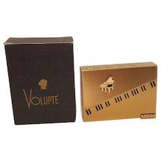 Collectors Volupte Piano Compact  Music Box Plays Piano w/ Org. Box!