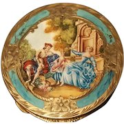 Vintage 800 Sterling Silver & Enamel Miniature Painting made in Italy