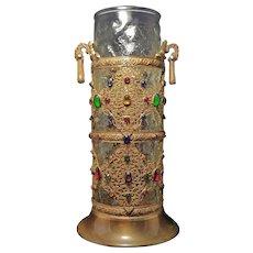 Rare Antique Apollo Studios Jeweled Vase