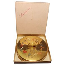 Rare Vintage LE RAGE RENDEVOUZ Compact W/ Box!! - Collector's Book Item * MINT!