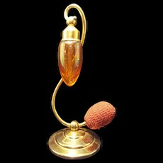 1928 DeVilbiss Debutante Series Iridescent Glass Perfume Atomizer Bottle