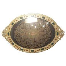 1920's Lavishly Jeweled German Vanity Tray