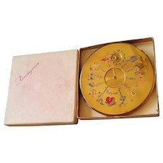 Rare Vintage LE RAGE RENDEVOUZ POWDER COMPACT W/ BOX!! - Collector's Book Item